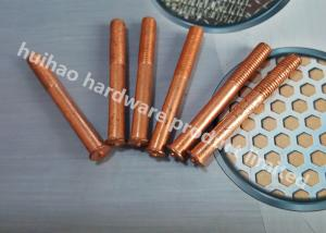 China Capacitor Discharge Annular Grooved Weld Pins , Stud Welder Pins With Threaded on sale
