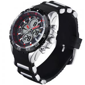 China Red watch hands LCD Digital MEN Sport Waterproof RUBBER Bracelet Quartz Wrist Watch on sale