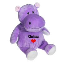 8 Inch Lovely Hippo Animal Plush Toys Promotion Gifts For Holiday Celebration