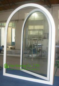 China UPVC Windows For Residential Home, Double Glazed Arched Casement Window, Waterproof  Vinyl Windows For Sale on sale