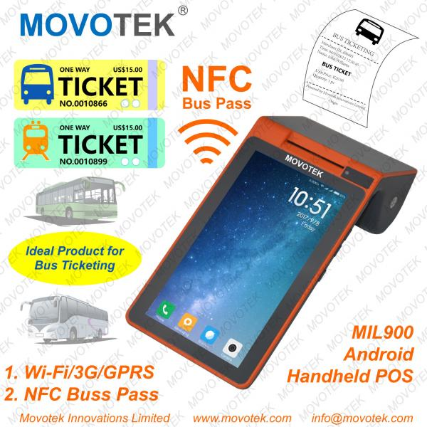 A3 Movotek Android POS Terminal with Printer, NFC Reader