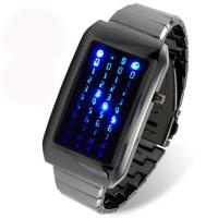 China Weatherproof 44 Blue LED Digital Watch For Time / Date Display, 180 mm Bracelet on sale