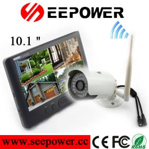 China 2.4G 10.1 Inches Wireless HD DVR Security System For Surveillance NTSC / PAL TV on sale