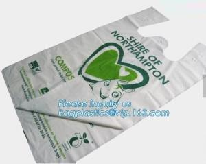 China cornstarch biodegradable bag, dog waste bag, compostable bag for home and community, Kitchen Custom Printed Plastic Comp on sale