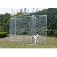 China Hot Dip Galvanized Chain Link Dog Cage , Large Animal Kennel Easy Cleaning on sale