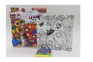China Fashion Ladybug Style Arts And Crafts Toys , Children Drawing Board Set on sale