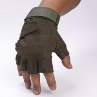 China Army Protective Fingerless Tactical Gloves , Military Shooting Gloves Fast Drying on sale