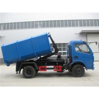 Dongfeng 5cbm / 4ton Waste Removal Trucks With Hydraulic Pull Arm Garbage Container
