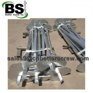 China Square helical piers are used for stabilize the foundation on sale