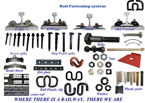 Custom Railroad Track Spikes , Threaded Screw Spike For Rail Fastening System