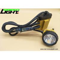 Rechargeable led corded-cable miners cap lamp 10.4Ah SAMSUNG battery pack 25000lux high brightness