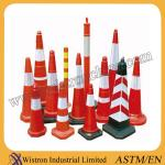 High Quality Flexible orange PVC traffic cone exporting Standard