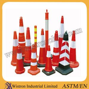 China High Quality Flexible orange PVC traffic cone exporting Standard on sale