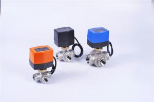 China Automatic Cleaning Machine Stainless Steel Motorized Ball Valve , DC Motorized 2 Way Valve on sale