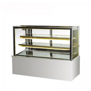 China Commercial 290L Flat Glass Countertop Display Chiller on sale