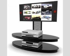 China Plasma LED LCD Media Center Furniture Black Color Suit For 60 Inch  TV on sale