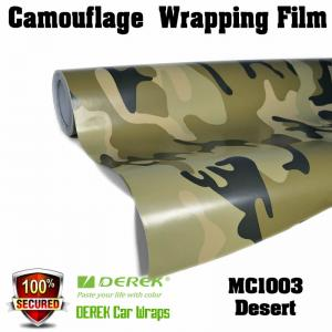 China Camouflage Automotive Vinyl Wrapping Film bubble free 1.52*30m/roll - Desert on sale