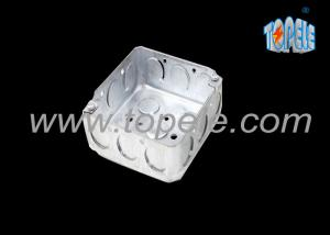 China Galvanized Steel Electrical Boxes And Covers / 4 Inch Square Conduit Boxes with Knockouts on sale