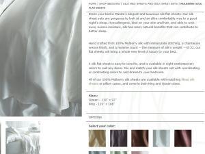 China Mulberry Silk Flat Sheets on sale