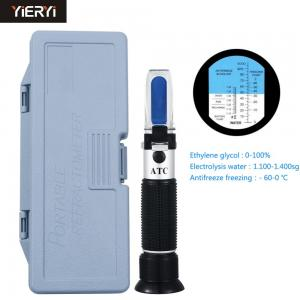 China Black 3 In 1 Antifreeze Refractometer Box , Research Refractometer Lightweight on sale