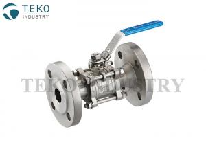 China Soft Seated Flanged Ball Valve , Manual Operation WCB Ball Valve WIth RPTFE Seat on sale
