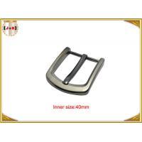 Square Clasp Clip Pin Nickel Color Metal Buckle For Men