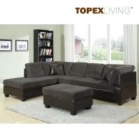 Gray Corduroy Sectional Sofa 2pc Set Sofa Couch Chaise ,Sofa Set with table,Quality Fabric Sofas in Living Room