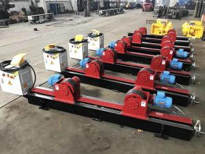 China CE Certificate Pipe Support Rollers Pipe Turning Rollers For Essen Exhibition on sale
