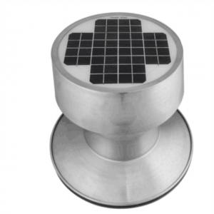 China 9W Flat Aluminium Solar Roof Ventilator With Angle Direction Adjustable on sale