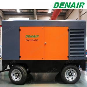 China Heavy Duty 1500 cfm Mobile Diesel Rotary Screw Air Compressor for Stone Drilling Machine on sale