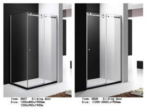 China Tempered Glass Shower Door Enclosures With Top Roller One Side Sliding Door on sale