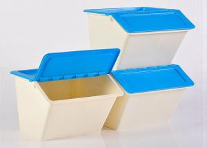 China PP plastic stackable and open lid storage box easy classifying and access on sale