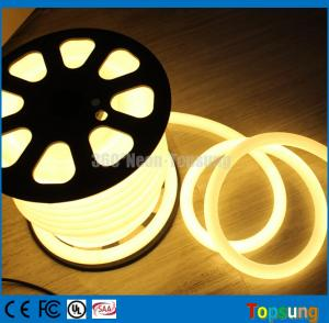 China 82 feet spool 12V 360 degree round warm white led flexible neon for signs on sale