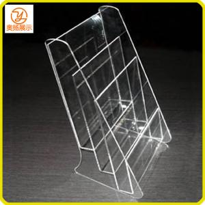 China 3 tiers A5 size clear acrylic brochure holder on sale