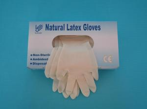 China Disposable latex examination glove on sale