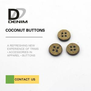 China 16L 4H Large Coconut Shell Buttons With Custom Logo Or Design Accepte on sale