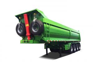 China Q345 Carbon Steel/HYVA 214 Cylinder/3 FUWA Axles/WABCO Relay Valve Semi Trailer on sale