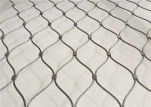 China Hand Woven Flexible Protection Stainless Steel Grade Cable Wire Mesh Netting on sale