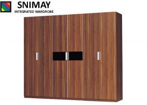 China Bedroom 6 door Modern Hotel Furniture hinge wardrobe laminate on sale