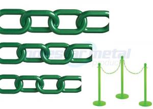 China Recyclable Colorful Plastic Link Chain / Green Plastic Chain For Garden on sale