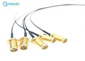 China Extension SMA Female Bulkhead RF Cable Assemblies To 1.37 Mm Cable Ufl IPX RF Connector supplier