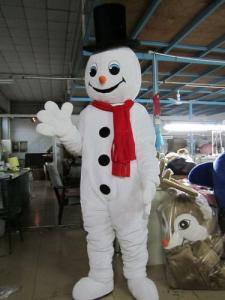 Quality Костюм талисмана снеговика Хандмаде пропаганды взрослый белый for sale