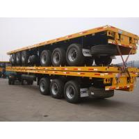 low price 3 axles 40ft container flatbed semi trailer with container locks