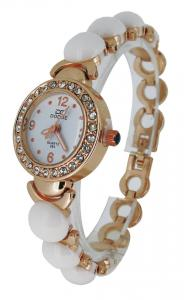 China White Beads Girls Bracelet Watches , Lover Wrist Watch Japan Movt on sale