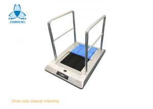 China Automatic Shoe Sole Cleaner machine for clean room, automatic water in and automatic drainage on sale