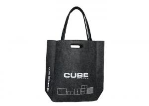 China Leather Die Cut Handles Non Woven Polyester Tote Bags Large Stylish Felt on sale