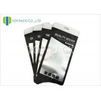 Black Aluminum Foil Bags Zipper Clear Matte Window Socks Packing