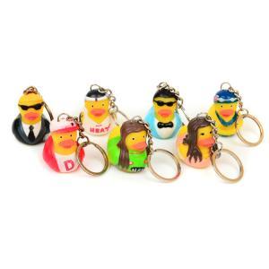 China Vinyl Mini Rubber Duck Keyring Environmental Protection For Children on sale