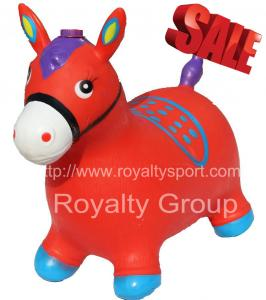 China PVC inflatable Blue jumping horses , Horse jumps , Skippy horse on sale