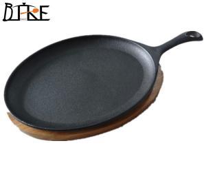 China seasoned cast iron fajita pans on sale